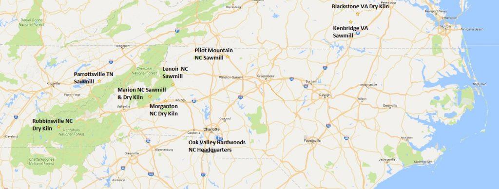 Locations – Oak Valley Hardwoods